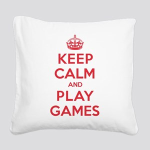 K C Play Games Square Canvas Pillow