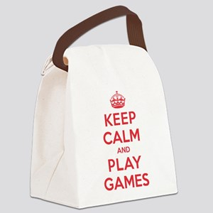 K C Play Games Canvas Lunch Bag