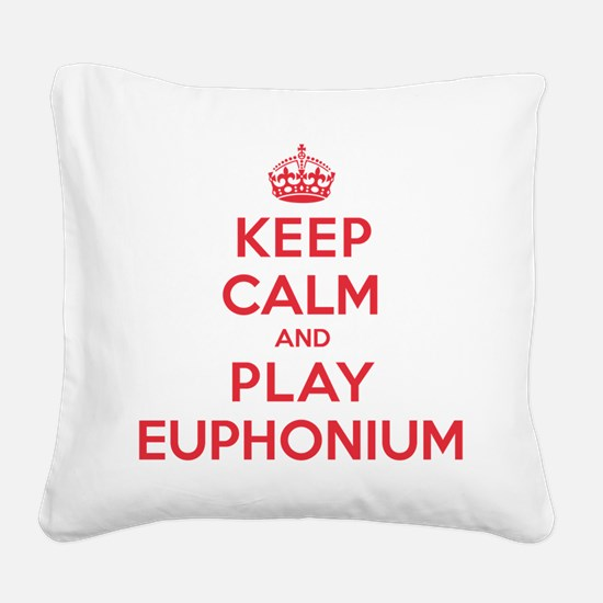 K C Play Euphonium Square Canvas Pillow
