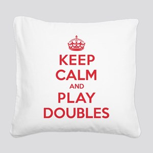 K C Play Doubles Square Canvas Pillow