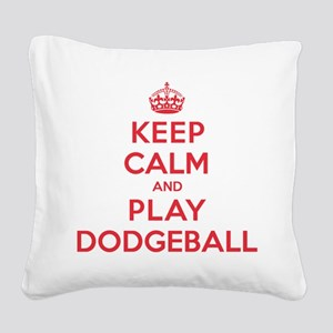 K C Play Dodgeball Square Canvas Pillow