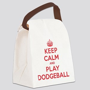 K C Play Dodgeball Canvas Lunch Bag