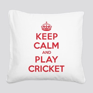 K C Play Cricket Square Canvas Pillow