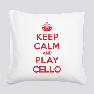 K C Play Cello Square Canvas Pillow