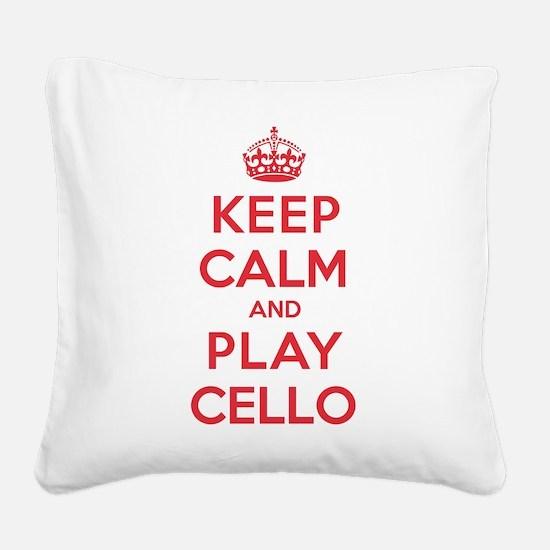 K C Play Cello Square Canvas Pillow
