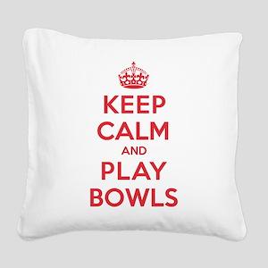 K C Play Bowls Square Canvas Pillow
