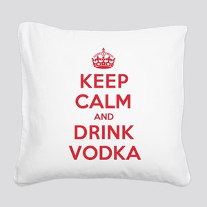 K C Drink Vodka Square Canvas Pillow
