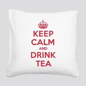 K C Drink Tea Square Canvas Pillow
