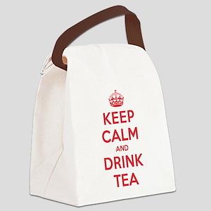 K C Drink Tea Canvas Lunch Bag