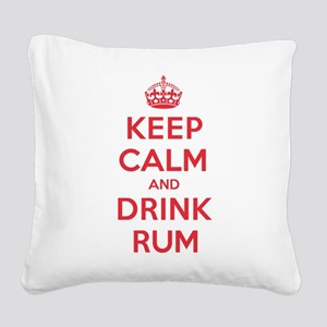 K C Drink Rum Square Canvas Pillow