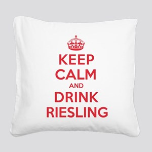K C Drink Riesling Square Canvas Pillow