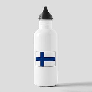 Finland - National Flag - Current Water Bottle