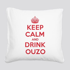 K C Drink Ouzo Square Canvas Pillow