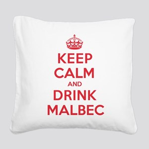 K C Drink Malbec Square Canvas Pillow