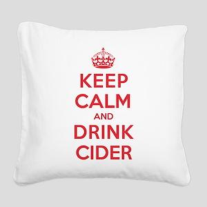 K C Drink Cider Square Canvas Pillow