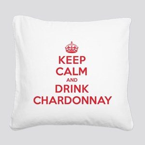 K C Drink Chardonnay Square Canvas Pillow