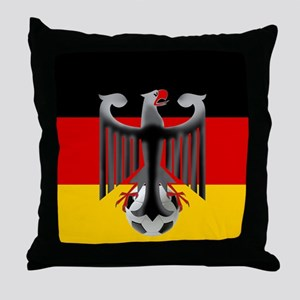 German Soccer Flag Throw Pillow