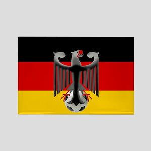 German Soccer Flag Rectangle Magnet