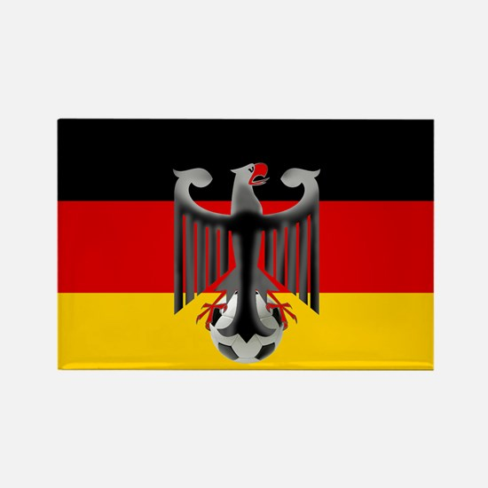 German Soccer Flag Rectangle Magnet