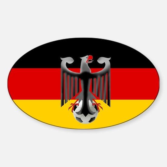German Soccer Flag Sticker (Oval)