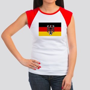 German Soccer Flag Women's Cap Sleeve T-Shirt