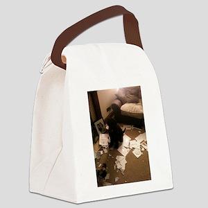 we have bean Doodled Canvas Lunch Bag