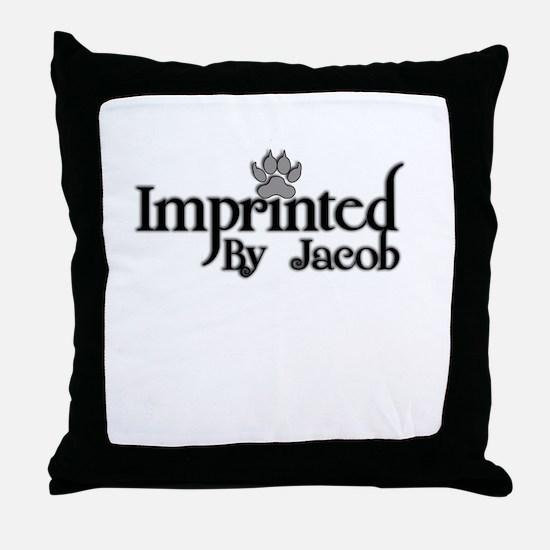 Twlight imprinted jacob Throw Pillow