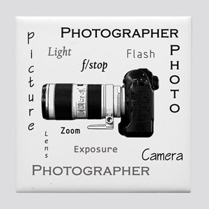 Photographer-Definitions-DSLR Tile Coaster