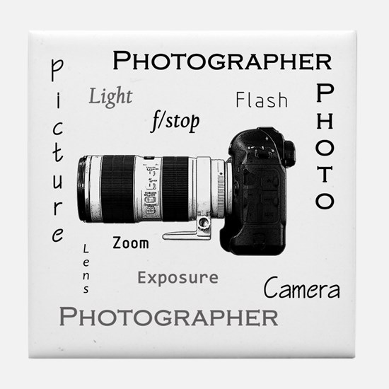 Photographer-Definitions-DSLR.png Tile Coaster