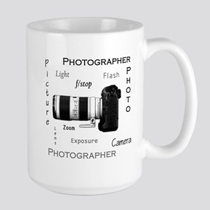 Photographer-Definitions-DSLR Large Mug
