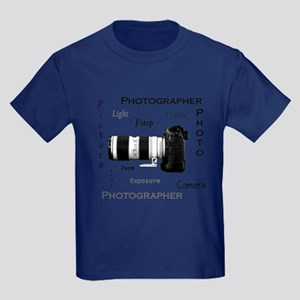 Photographer-Definitions-DSLR Kids Dark T-Shir