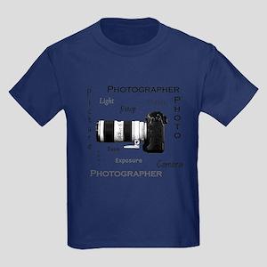 Photographer-Definitions-DSLR Kids Dark T-Shir