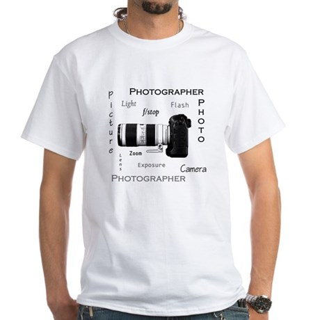 Photographer-Definitions-DSLR White T-Shirt