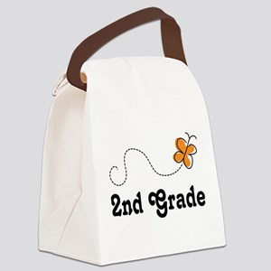 2nd Grade butterfly Canvas Lunch Bag