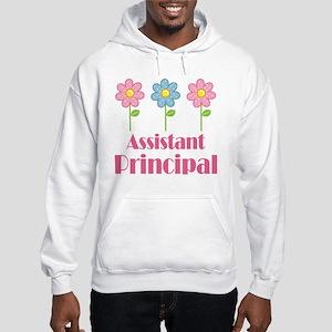 Assistant Principal (Flowered) Hooded Sweatshirt