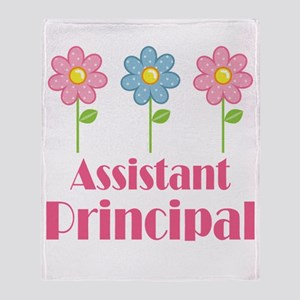Assistant Principal (Flowered) Throw Blanket