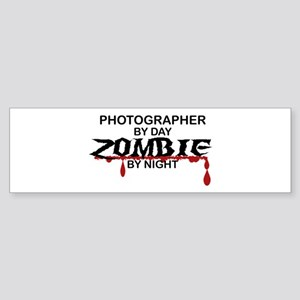 Photographer Zombie Sticker (Bumper)