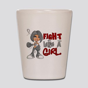Fight Like a Girl 42.8 Parkinson's Shot Glass
