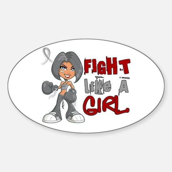 Fight Like a Girl 42.8 Parkinson's Sticker (Oval)