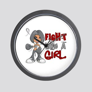 Fight Like a Girl 42.8 Parkinson's Wall Clock