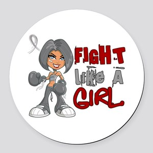 Fight Like a Girl 42.8 Parkinson's Round Car Magne