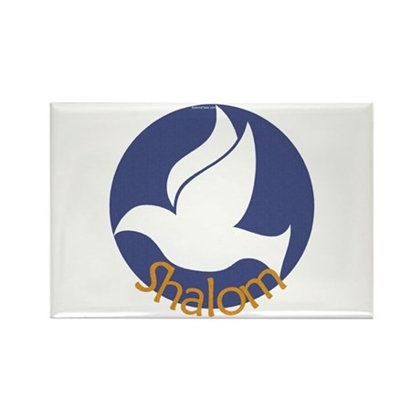 Shalom Dove Rectangle Magnet