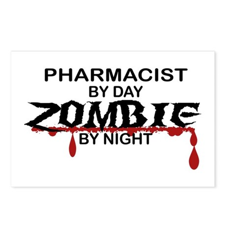 Pharmacist Zombie Postcards (Package of 8)