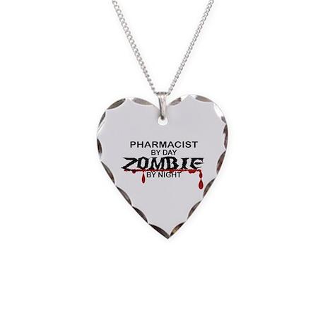 Pharmacist Zombie Necklace Heart Charm