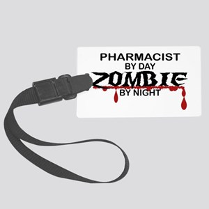 Pharmacist Zombie Large Luggage Tag