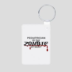 Pediatrician Zombie Aluminum Photo Keychain