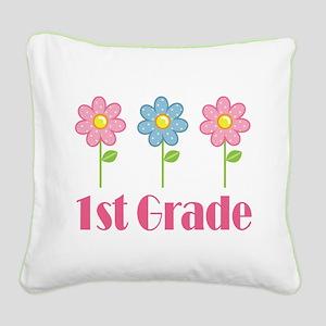 1st Grade (Daisy) Square Canvas Pillow
