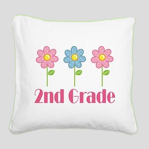 2nd Grade (Daisy) Square Canvas Pillow