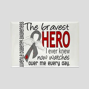 Bravest Hero I Knew J Diabetes Rectangle Magnet