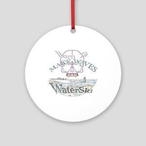 Water ski Ornament (Round)